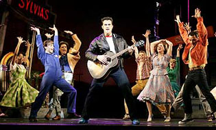 The cast of the 2005 Broadway production of 'All Shook Up'. Photo by Joan Marcus.