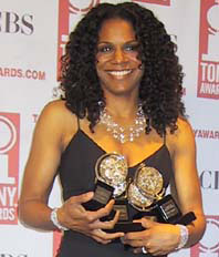 Audra McDonald at the 2004 Tony Awards. She won four awards, including one for Best Supporting Actress in a Play for her performance in the 2004 revival of 1959's 'A Raisin in the Sun' by Lorraine Hansberry. Photo by Aubrey Reuben.